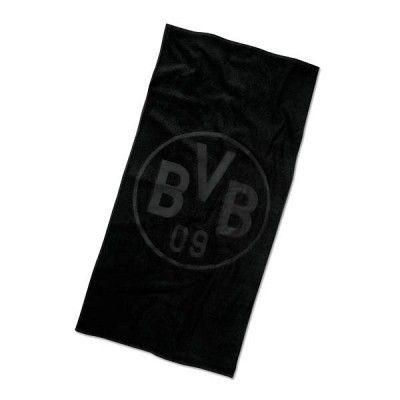 Borussia Dortmund Duschtuch Emblem schwarz
