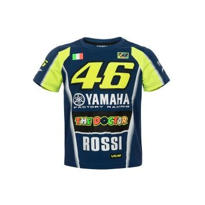 "Valentino Rossi Kinder T-Shirt ""Sponsor"" - blau"