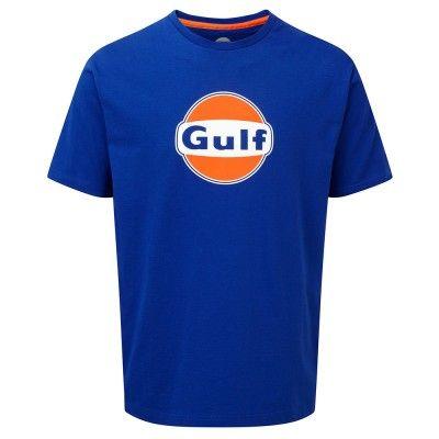 Gulf Logo T-Shirt, blau
